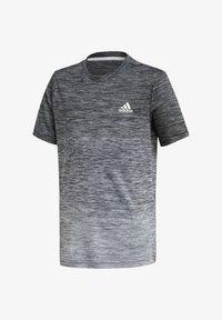 adidas Performance - Print T-shirt - schwarz\grey - 0