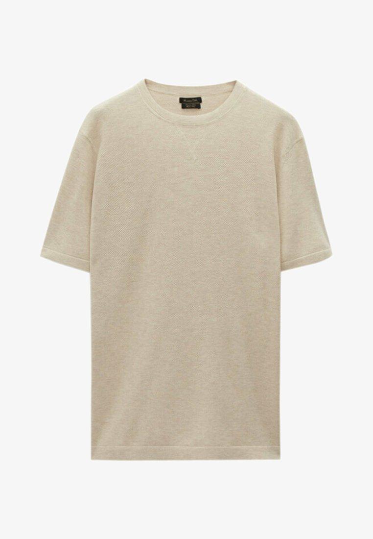 Massimo Dutti - T-shirt basique - beige