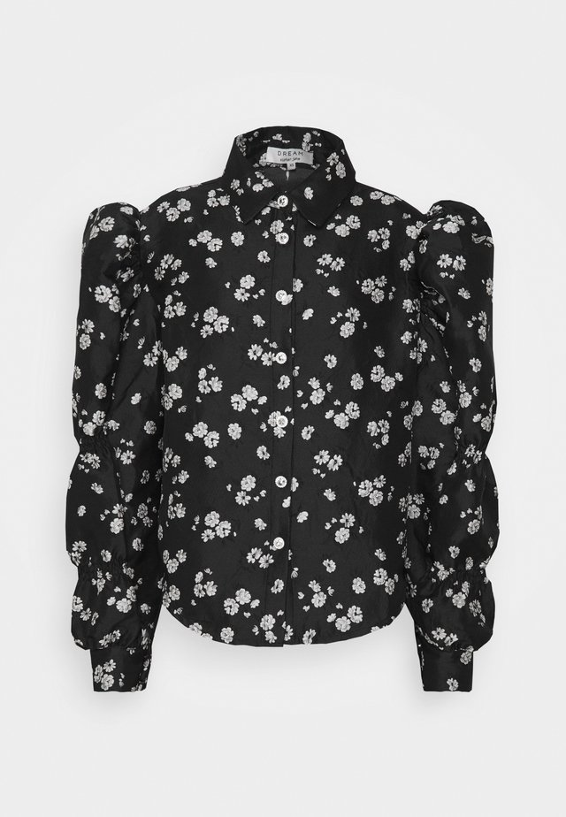FORGET ME NOT RETRO BLOUSE - Button-down blouse - black