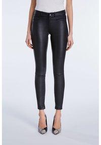 SET - LEDERHOSE DAKOTA - Leather trousers - black - 0