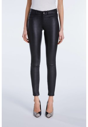 LEDERHOSE DAKOTA - Leather trousers - black