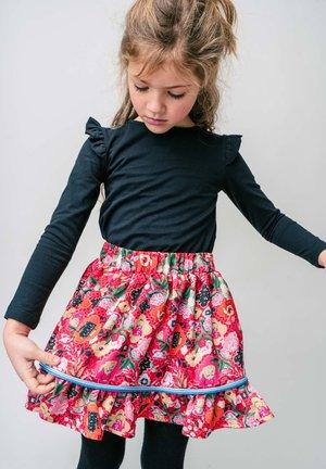 ANNES - Áčková sukně - red