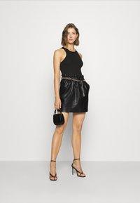 ONLY - ONLCOCO SKIRT  - Mini skirt - black - 1