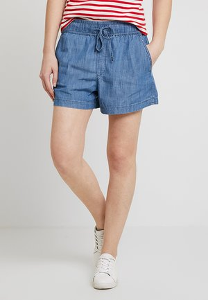 PULL ON CHAMBRAY - Shorts - medium indigo