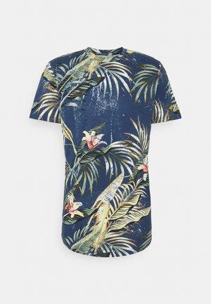 JJPOP TEE CREW NECK - T-shirt med print - navy blazer