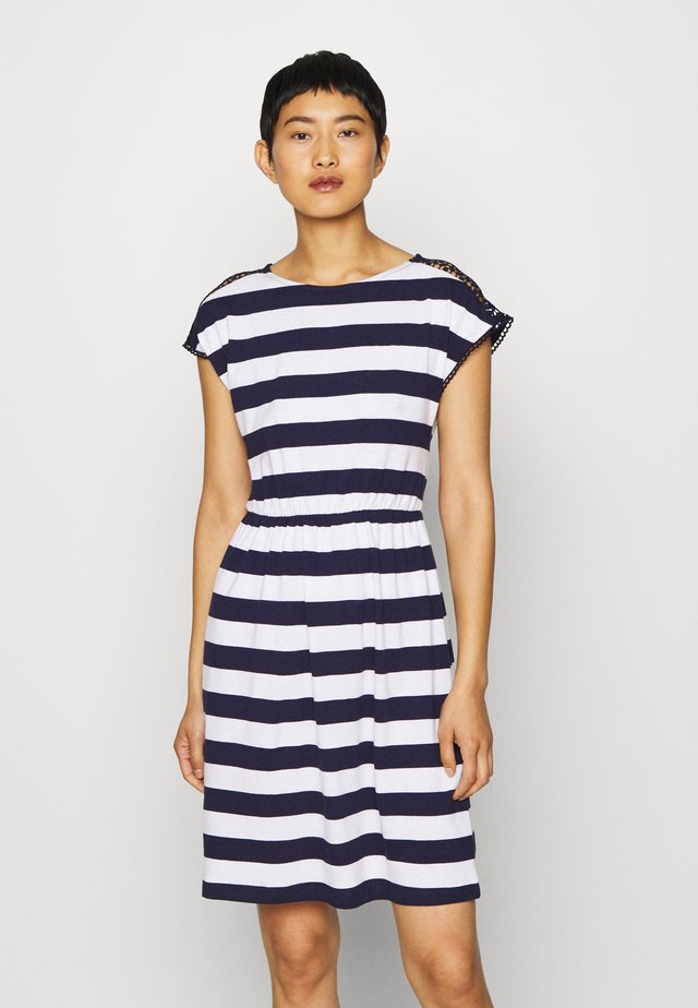 Sukienka z dżerseju - evening blue/white