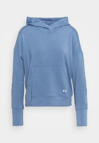 Under Armour - RIVAL TAPED HOODIE - Jersey con capucha - mineral blue - 4