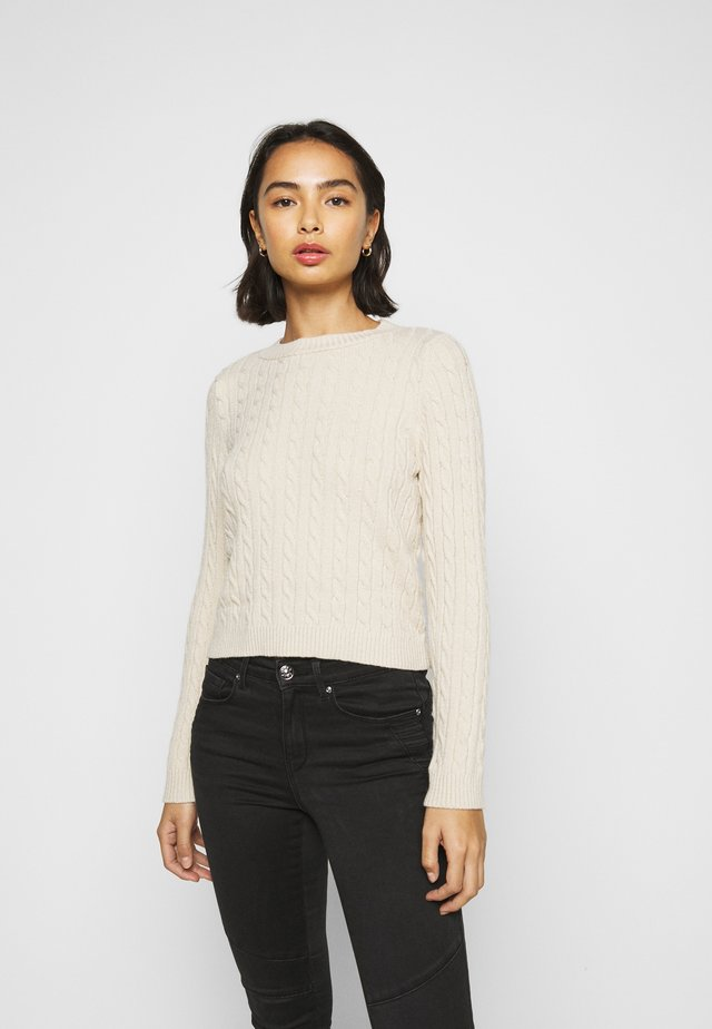 ONLMEGAN CABLE - Pullover - pumice stone/melange