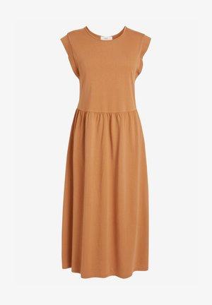 Jersey dress - tan