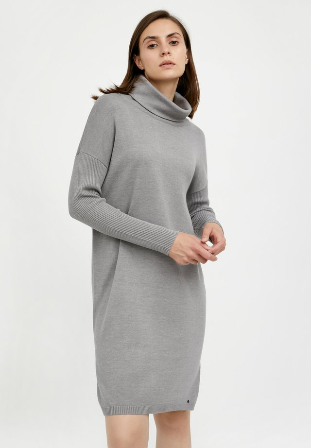 Jumper dress - grey melange