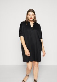 Zign Curvy - Jersey dress - black - 0