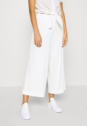 CILLA TROUSERS - Trousers - white light