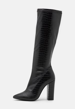 SLIP IN STRETCHY BOOT - Bottes à talons hauts - black