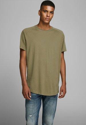 JJECURVED TEE O NECK - T-shirt basique - dusky green