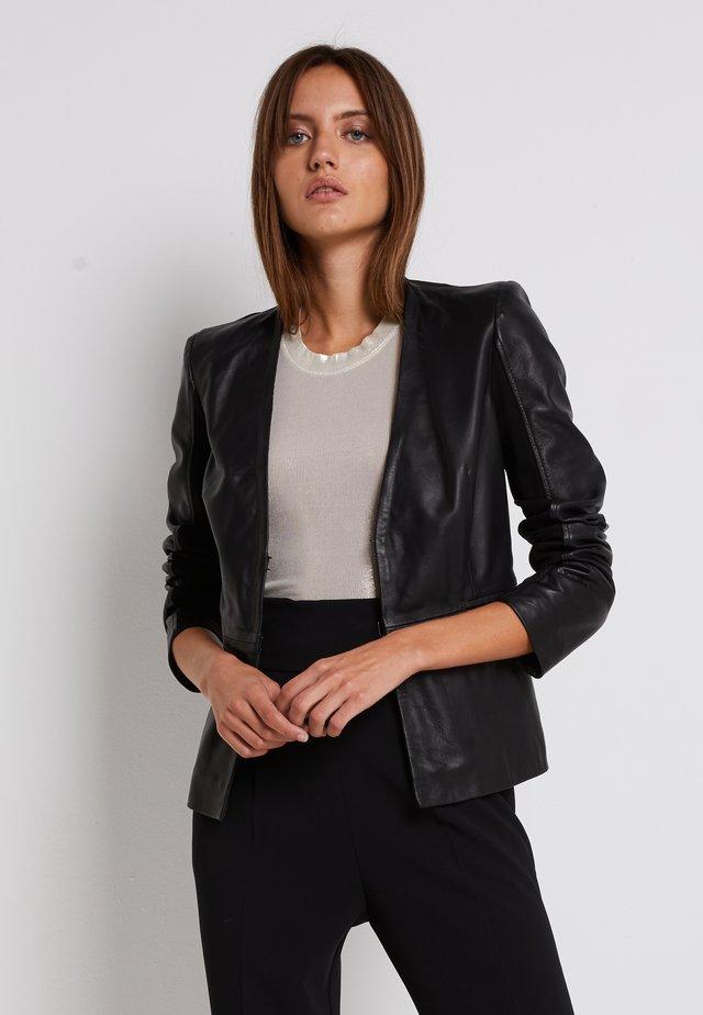 BRADLEY JACKET - Leather jacket - black