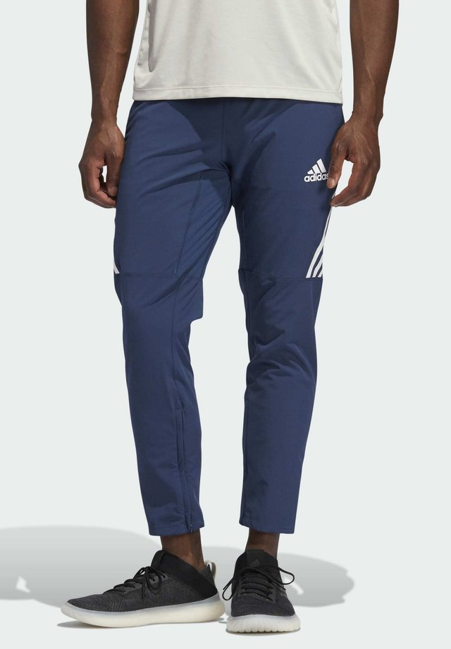 AEROREADY STRIPES - Tracksuit bottoms - blue