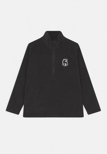 ZIP UNISEX - Fleece jumper - black