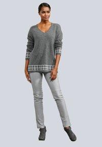 Alba Moda - Leather trousers - hellgrau - 1