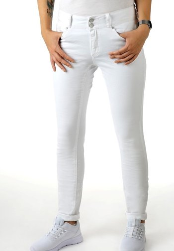 STRETCH - Trousers - white