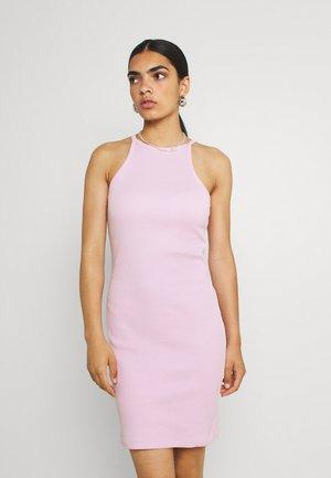MINI DRESS RACER NECK - Shift dress - pink