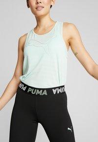 Puma - MODERN SPORTS BANDED - Medias - black/mist green - 3