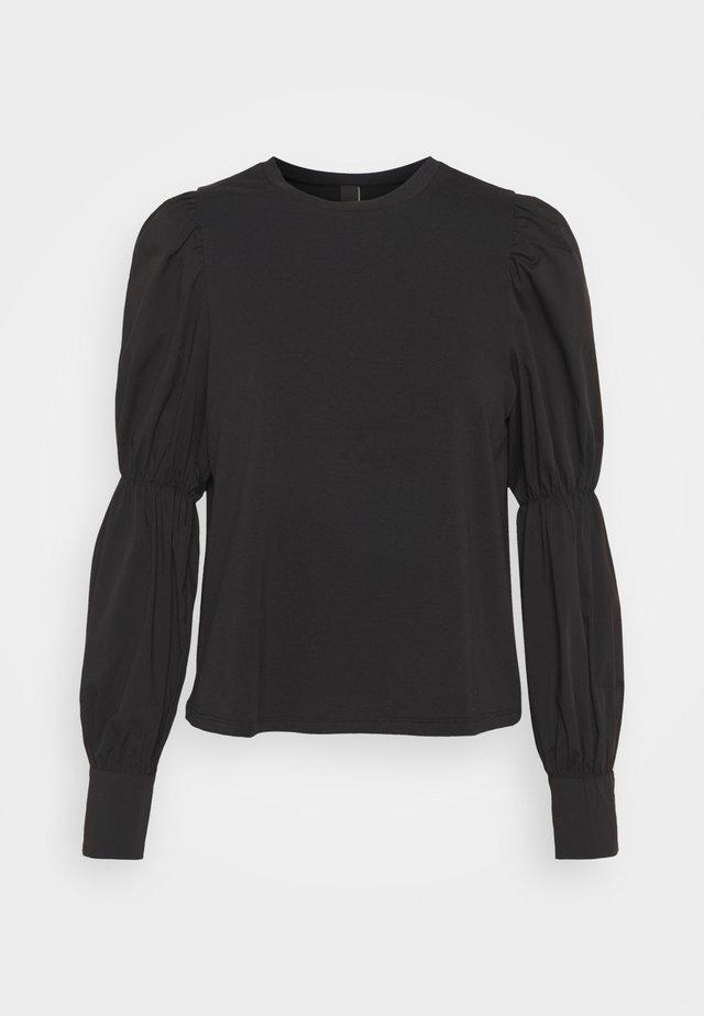 YASBEX - Button-down blouse - black