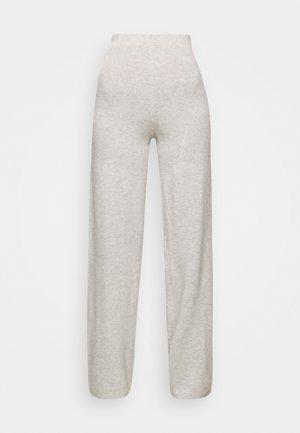 AVA PANTS - Trousers - light grey melange
