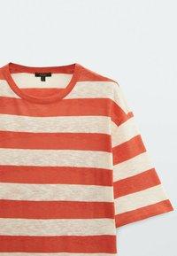 Massimo Dutti - Print T-shirt - red - 3