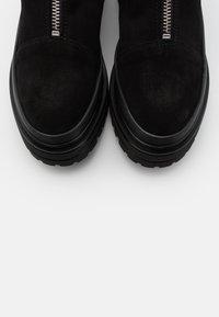 Bianco - BIADICY ZIPPER BOOT - Platåstøvletter - black - 5