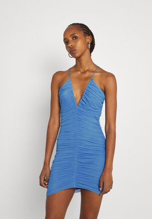 RUCHED FRONT DRESS - Cocktail dress / Party dress - blue
