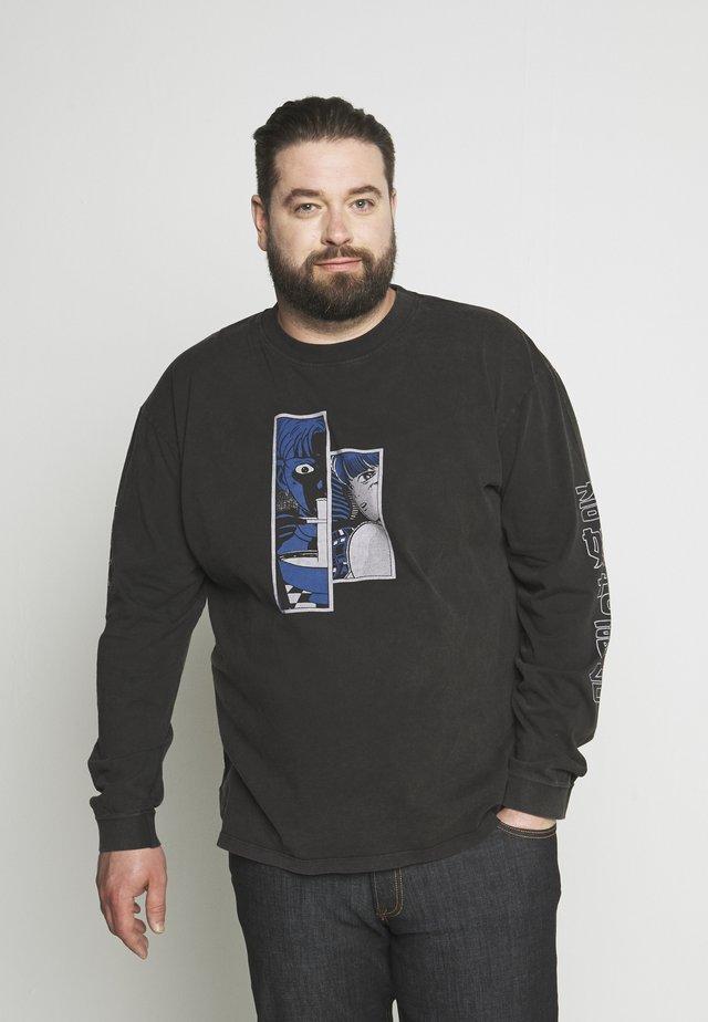 STRANGE FUSION PLUS - Pitkähihainen paita - black