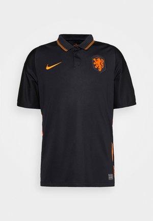 NIEDERLANDE KNVB AWAY - Koszulka reprezentacji - black/safety orange