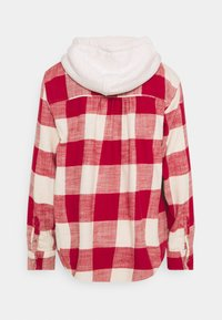 American Eagle - HOODED PLAIDS - Button-down blouse - red - 1