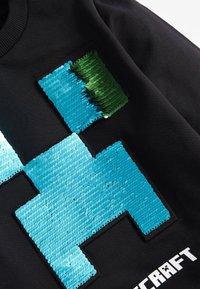 Next - MINECRAFT SEQUIN CREW NECK SWEATER - Sweatshirt - black - 2
