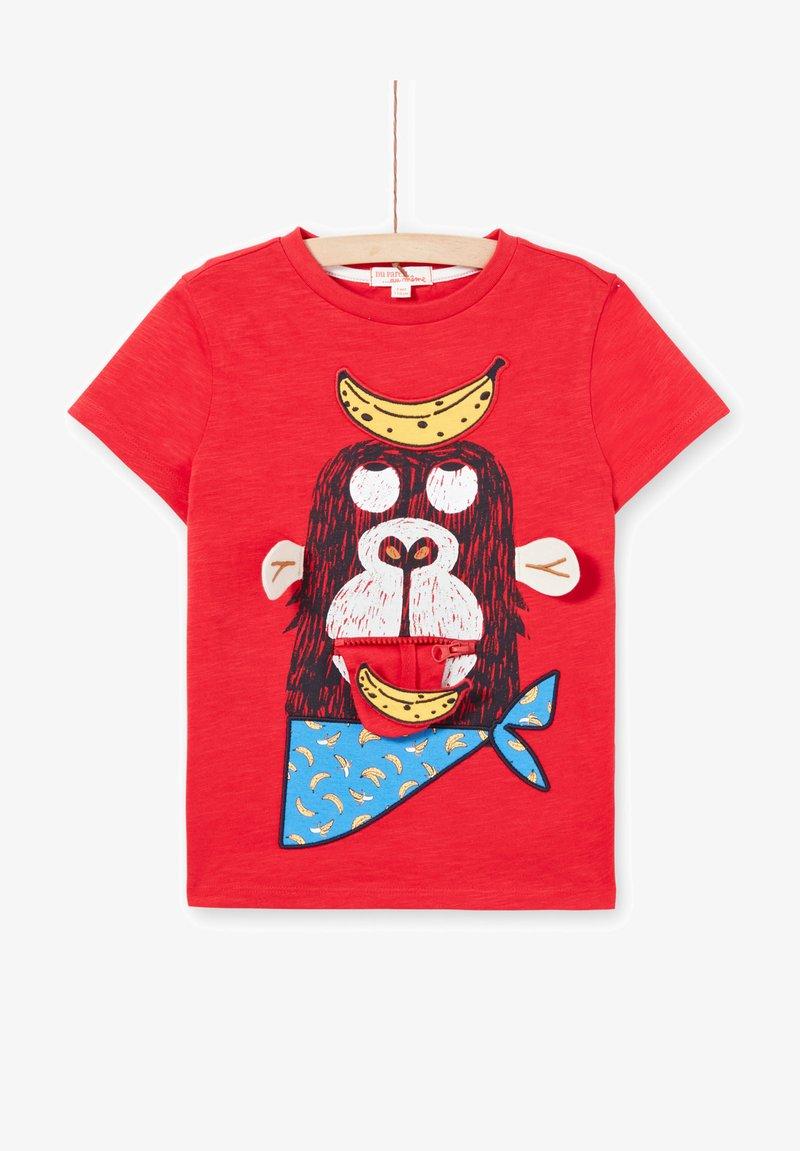 Du Pareil au Même - Print T-shirt - red