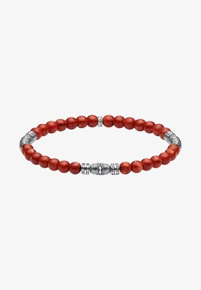 TALISMAN  - Bracelet - red/silver-coloured