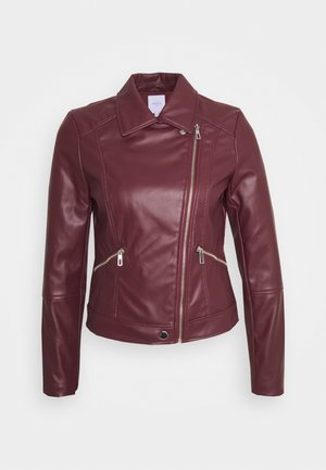 BIKER - Faux leather jacket - red