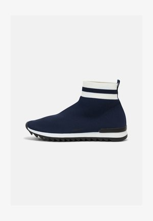 DRESDEN BOOT - Korkeavartiset tennarit - blue/white