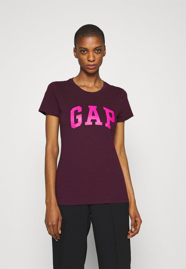 TEE - Print T-shirt - secret plum
