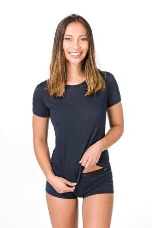 W BASE TEE - Basic T-shirt - dark blue