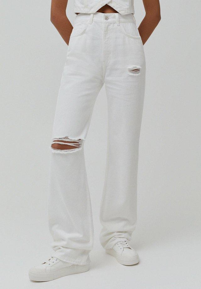 Flared-farkut - white