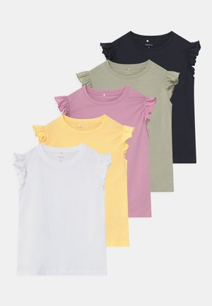 NMFSEDONNA 5 PACK - Print T-shirt - sunlight