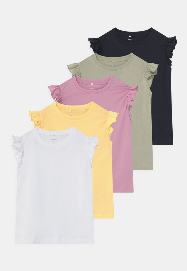 NMFSEDONNA 5 PACK - T-shirt print - sunlight