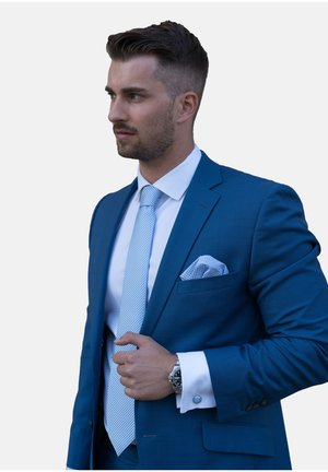 4 PIECE SET - Pocket square - hellblau