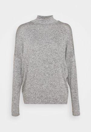 CUT AND SEW HIGH NECK DOLMAN - Strikkegenser - grey