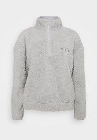 Missguided - BORG HALF ZIP HOODIE JOGGERS - Sweatshirt - grey - 2