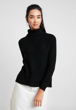 ONLJADE ROLLNECK - Sweter - black