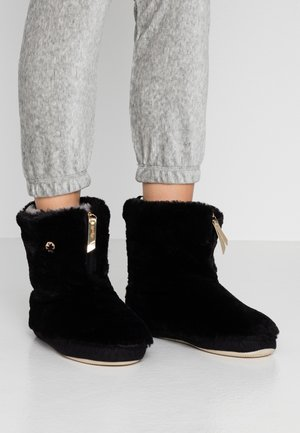 COTTAGE MATE ZIP - Pantoffels - black