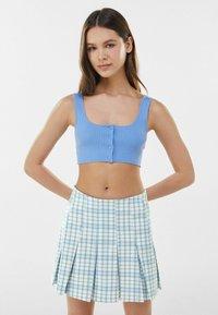 Bershka - BOX - Mini skirt - blue - 0