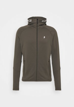 RIDER ZIP HOOD - Fleecová bunda - black olive